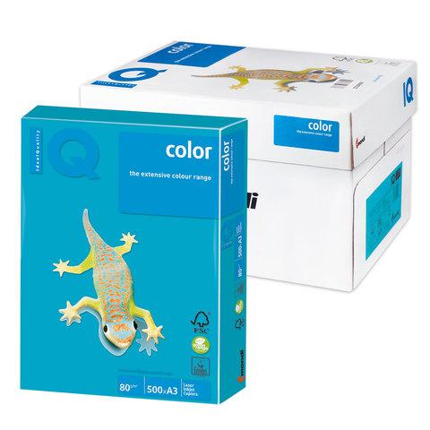 Бумага IQ color А3, 80 г/м, 500 л., интенсив, светло-синяя, AB48, ш/к 00730  Код: 110763
