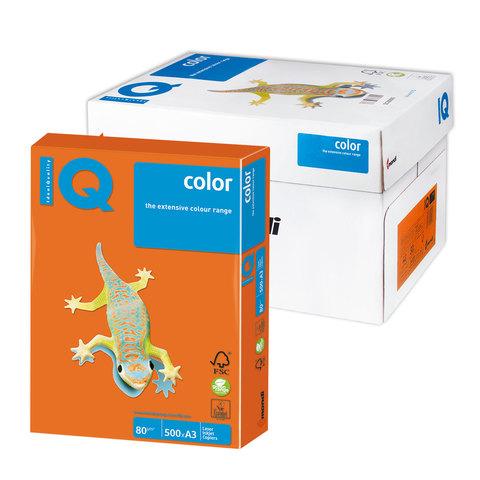 Бумага IQ color А3, 80 г/м, 500 л., интенсив, оранжевая, OR43, ш/к 00747  Код: 110764