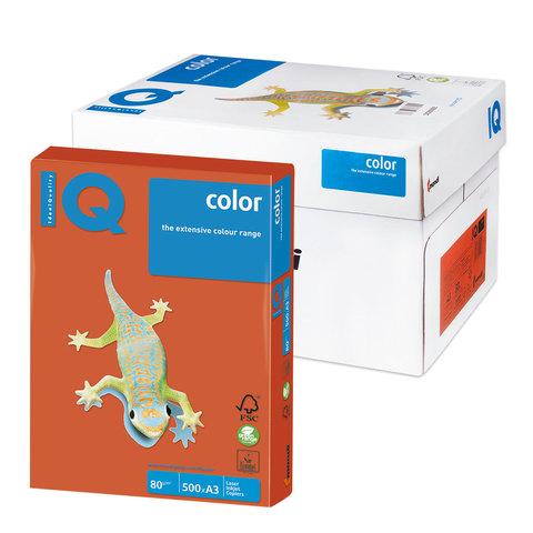 Бумага IQ (АйКью) color А3, 80 г/м, 500 л., интенсив красный кирпич ZR09 ш/к 12955  Код: 110765