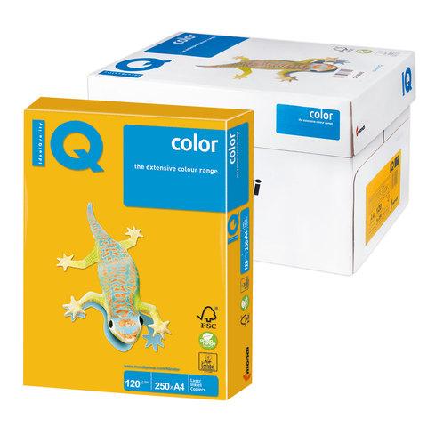 Бумага IQ (АйКью) color А4, 120 г/м, 250 л., интенсив солнечно-желтая SY40 ш/к 07050  Код: 110773