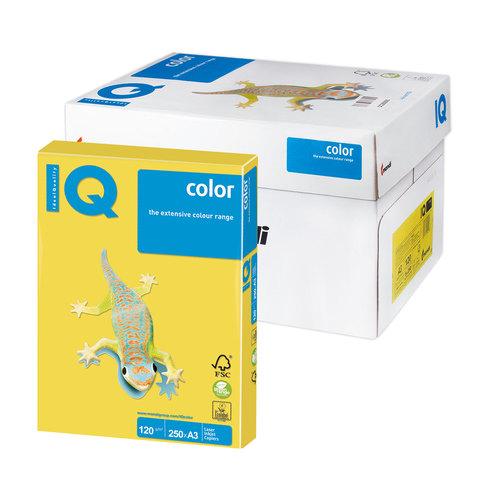 Бумага IQ color А3, 120 г/м, 250 л., интенсив, канареечно-желтая, CY39, ш/к 47537  Код: 110775