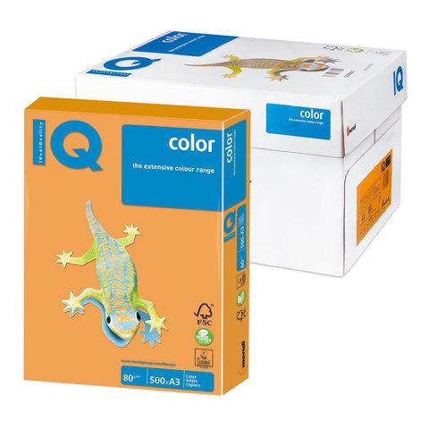 Бумага IQ color А3, 80 г/м, 500 л., неон, оранжевая, NEOOR, ш/к 12634  Код: 110784