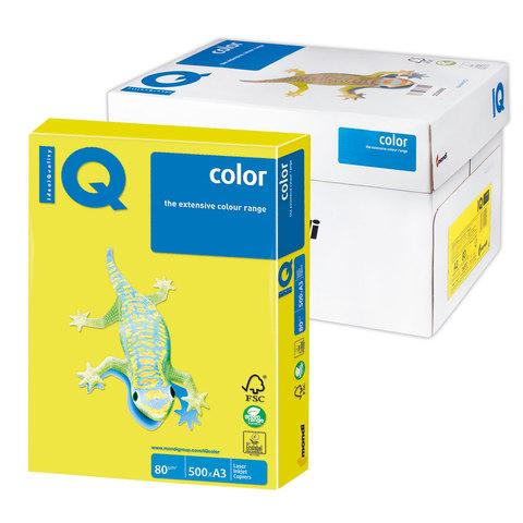 Бумага IQ color А3, 80 г/м, 500 л., неон желтая NEOGB ш/к 12610  Код: 110785
