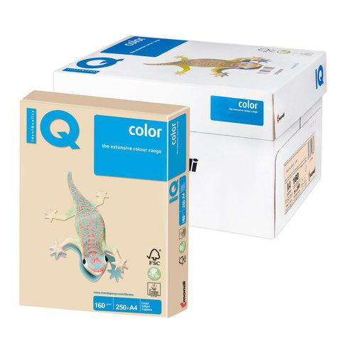 Бумага IQ color А4, 160 г/м, 250 л., пастель, темно-кремовая, SA24, ш/к 00600  Код: 110804