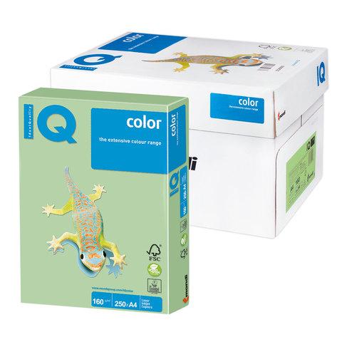 Бумага IQ (АйКью) color А4, 160 г/м, 250 л., пастель зеленая MG28 ш/к 00167  Код: 110808