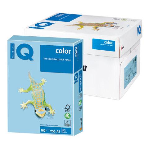 Бумага IQ color А4, 160 г/м, 250 л., пастель, голубой лед, OBL70, ш/к 16755  Код: 110809