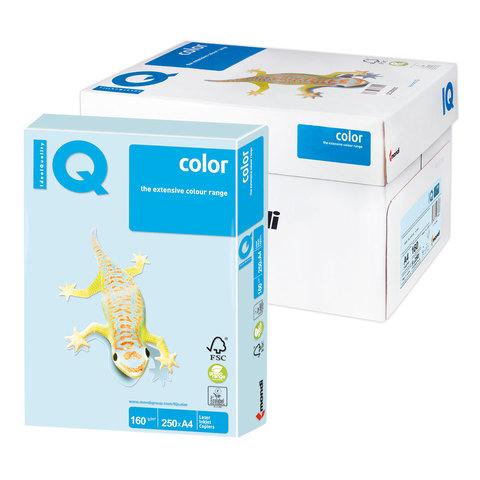 Бумага IQ color А4, 160 г/м, 250 л., пастель светло-голубая BL29 ш/к 00020  Код: 110812
