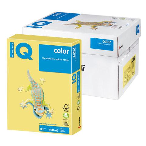 Бумага IQ (АйКью) color А3, 80 г/м, 500 л., умеренно-интенсив (тренд) лимонно-желтая ZG34 ш/к 08293  Код: 110820