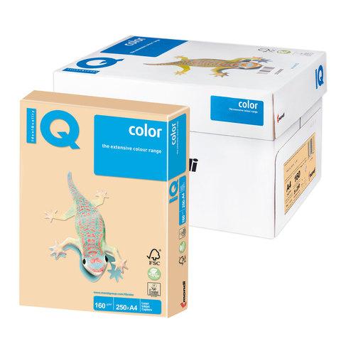 Бумага IQ color А4, 160 г/м, 250 л., умеренно-интенсив (тренд), золотистая, GO22, ш/к 00563  Код: 110826