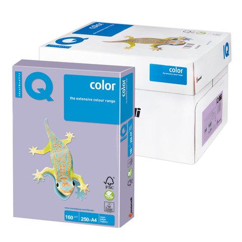 Бумага IQ color А4, 160 г/м, 250 л., умеренно-интенсив (тренд), бледно-лиловая, LA12, ш/к 06473  Код: 110827
