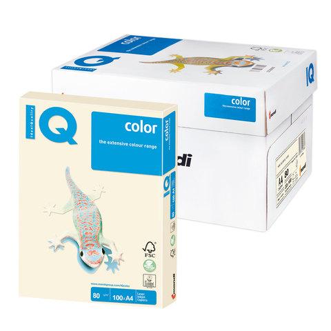 Бумага IQ color А4, 80 г/м, 100 л., пастель кремовая CR20 ш/к 13921  Код: 110829