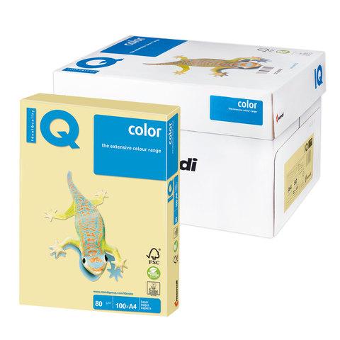 Бумага IQ (АйКью) color А4, 80 г/м, 100 л., пастель желтая YE23 ш/к 07760  Код: 110830