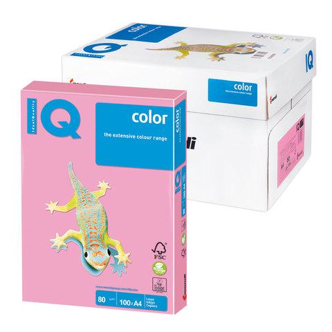 Бумага IQ color А4, 80 г/м, 100 л., пастель розовый фламинго OPI74 ш/к 17202  Код: 110831