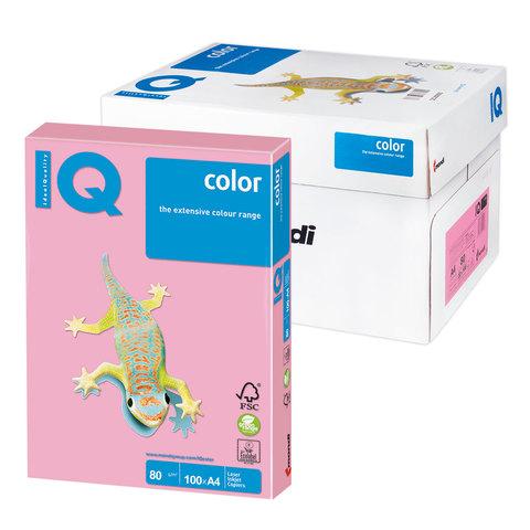 Бумага IQ color А4, 80 г/м, 100 л., пастель розовая PI25 ш/к 07777  Код: 110832
