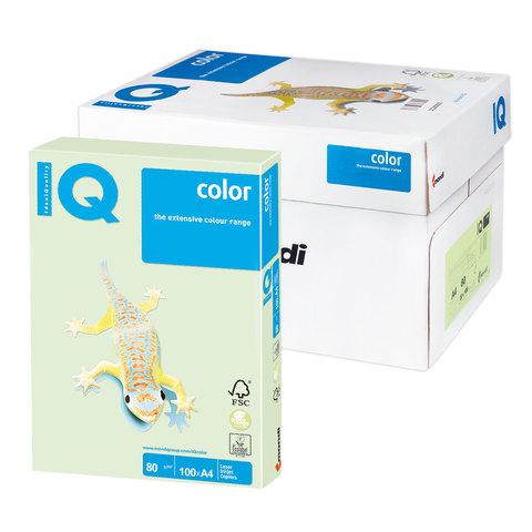 Бумага IQ color А4, 80 г/м, 100 л., пастель, светло-зеленая, GN27, ш/к 07784  Код: 110833