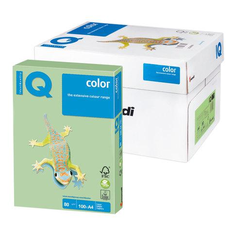 Бумага IQ color А4, 80 г/м, 100 л., пастель зеленая MG28 ш/к 10838  Код: 110834