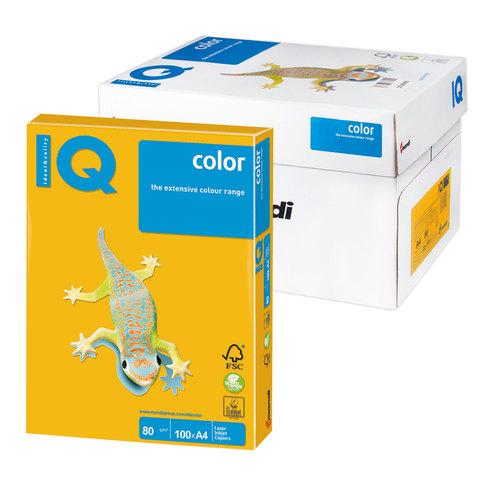 Бумага IQ color А4, 80 г/м, 100 л., интенсив, солнечно-желтая, SY40, ш/к 14652  Код: 110839