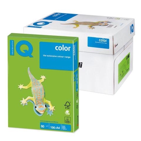 Бумага IQ color А4, 80 г/м, 100 л., интенсив ярко-зеленая MA42 ш/к 11101  Код: 110840