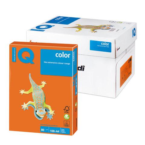 Бумага IQ color А4, 80 г/м, 100 л., интенсив, оранжевая, OR43, ш/к 16588  Код: 110841