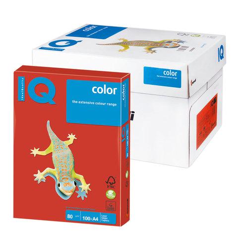 Бумага IQ (АйКью) color А4, 80 г/м, 100 л., интенсив кораллово-красная CO44 ш/к 07807  Код: 110842