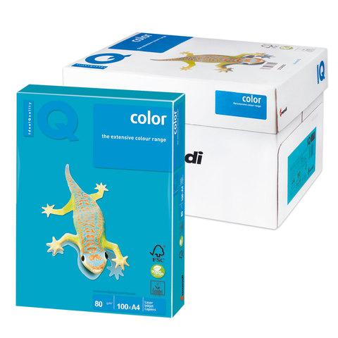 Бумага IQ color А4, 80 г/м, 100 л., интенсив светло-синяя AB48 ш/к 12306  Код: 110843