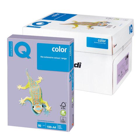 Бумага IQ (АйКью) color А4, 80 г/м, 100 л., умеренно-интенсив (тренд) бледно-лиловая LA12 ш/к 10852  Код: 110846