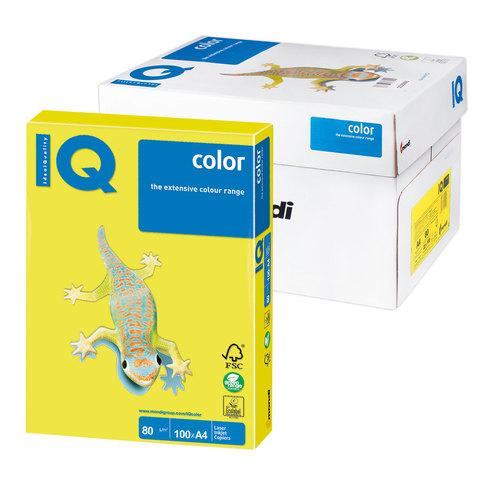Бумага IQ color А4, 80 г/м, 100 л., неон, желтая, NEOGB, ш/к 07463  Код: 110847
