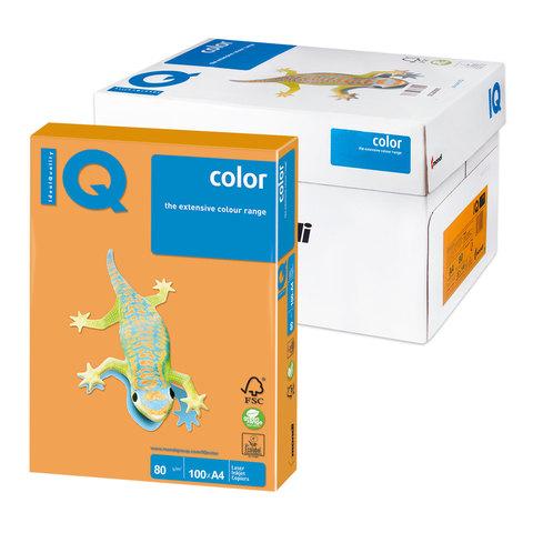 Бумага IQ color А4, 80 г/м, 100 л., неон оранжевая NEOOR ш/к 11040  Код: 110849