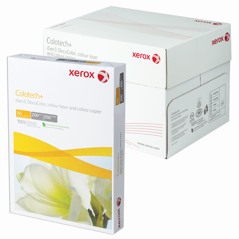 Бумага XEROX COLOTECH PLUS А4, 200г/м, 250л., д/полноцветов лазерной печати, А++, Австрия, 170%(CIE)  Код: 110863
