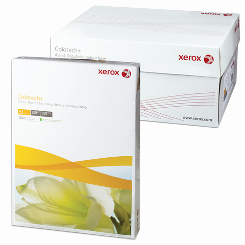 Бумага XEROX COLOTECH PLUS А3, 250г/м, 250л., д/полноцветов лазерной печати, А++, Австрия, 170%(CIE)  Код: 110868