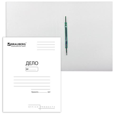 Скоросшиватель картонный BRAUBERG, гарантированная плотность 300 г/м2, до 200л, 122736  Код: 122736