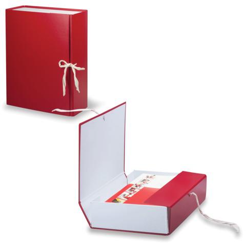 Короб архивный, бумвинил, 10 см, 2 х/б завязки, цвет ассорти, до 900л.  Код: 122805