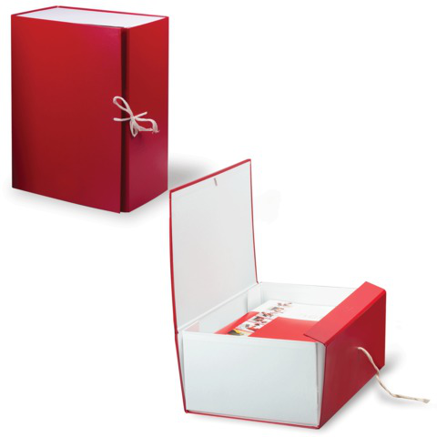 Короб архивный, бумвинил, 15 см, 2 х/б завязки, цвет ассорти, до 1400л.  Код: 122806