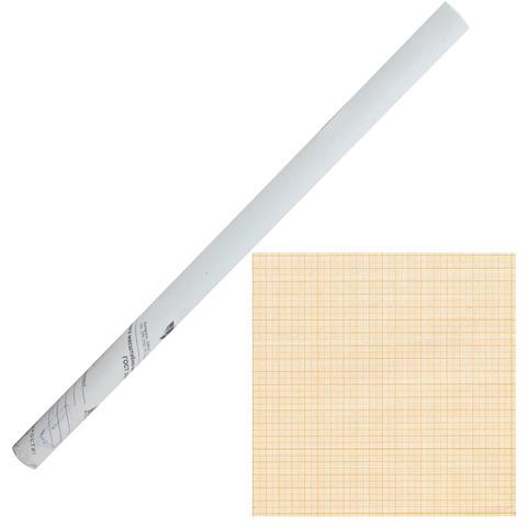 Бумага масштабно-координатная, рулон 878мм х10м, оранжевая  Код: 122811