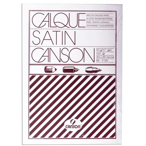 Калька CANSON Microfine А4, 110г/м, 100л, белая (0017120), ш/к 71207  Код: 124441