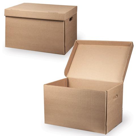 """Короб архивный """"Делопроизводство"""" (в29,5*ш48*г32,5, см), откидная крышка, картон, бурый  Код: 126523"""