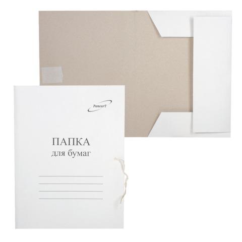 Папка для бумаг с завязками картонная STAFF, гарантированная плотность 220 г/м2, до 200л, 126525  Код: 126525