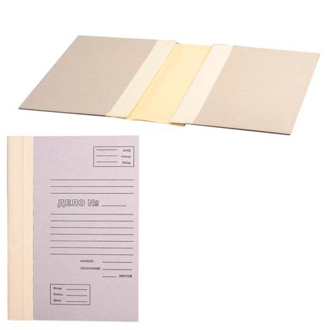 Папка архивная для переплета  40 мм, без клапанов, переплетный картон, корешок - коленкор, ш/к 71810  Код: 126673
