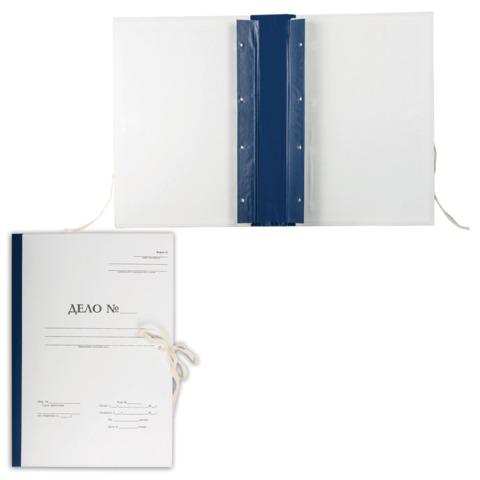 """Папка архивная для переплета """"Форма 21"""", 50 мм, с гребешками, 4 отверстия, 2 х/б завязки, 127132  Код: 127132"""