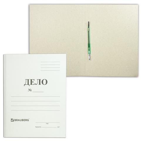 Скоросшиватель картонный BRAUBERG, ПЛОТНЫЙ картон, до 200л, 127821  Код: 127821