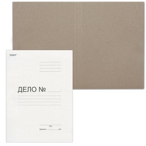 Папка Дело картонная (без скоросшивателя) STAFF, гарантированная плотность 220г/м2, до 200л, 128988  Код: 128988