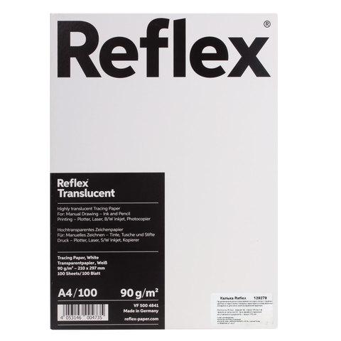 Калька REFLEX А4, 90 г/м, 100 л, Германия, белая, R17119  Код: 129279