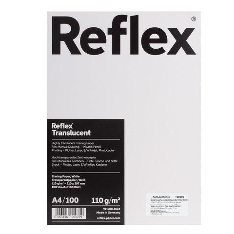 Калька REFLEX А4, 110 г/м, 100 л, Германия, белая, R17120  Код: 129280