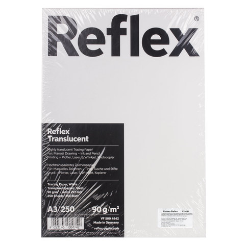 Калька REFLEX А3, 90 г/м, 250 л, Германия, белая, R17310  Код: 129281