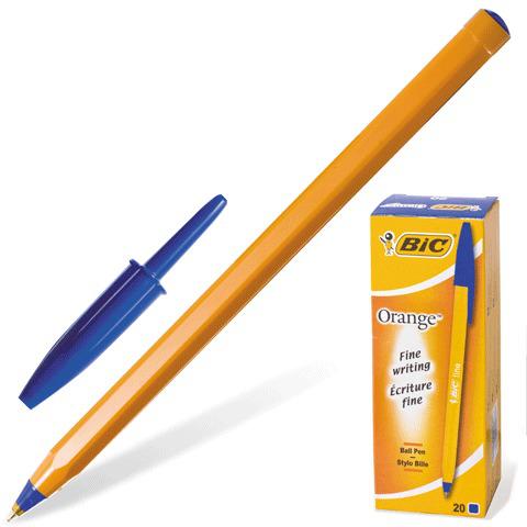 Ручка шариковая BIC Orange, корпус оранжевый, узел 0,8мм, линия письма 0,3мм, синяя, 8099221  Код: 140057