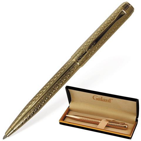 Ручка подарочная шариковая Galant (Галант) Graven Gold, корпус золотой, золотые детали, 0,7мм, синяя, 140466  Код: 140466