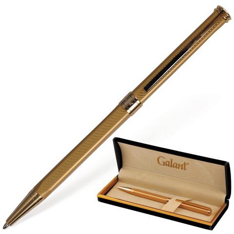 Ручка подарочная шариковая Galant (Галант) Stiletto Gold, корпус золотой, золотые детали, 0,7мм, синяя, 140527  Код: 140527