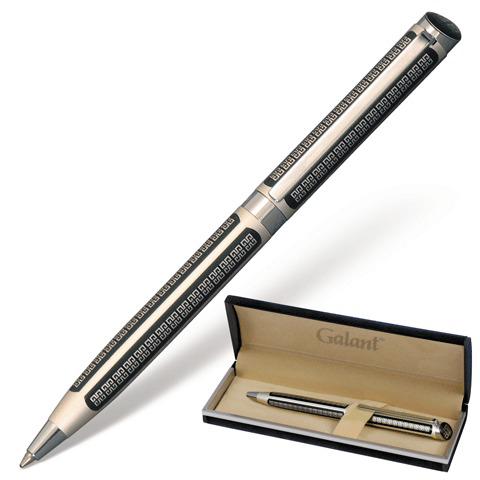 Ручка подарочная шариковая Galant (Галант) Olympic Silver, корпус серебристый/черный, хром.дет., 0,7мм,син,140613  Код: 140613