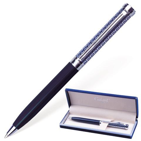 Ручка подарочная шариковая Galant (Галант) Empire Blue, корп. серебр./синий, хром.детали, 0,7мм,синий, 140961  Код: 140961