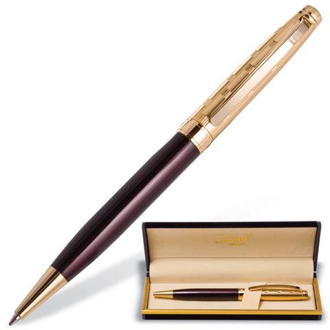 Ручка подарочная шариковая Galant (Галант) Bremen, корп. бордовый/золот., золот.детали, 0,7мм, синяя, 141010  Код: 141010